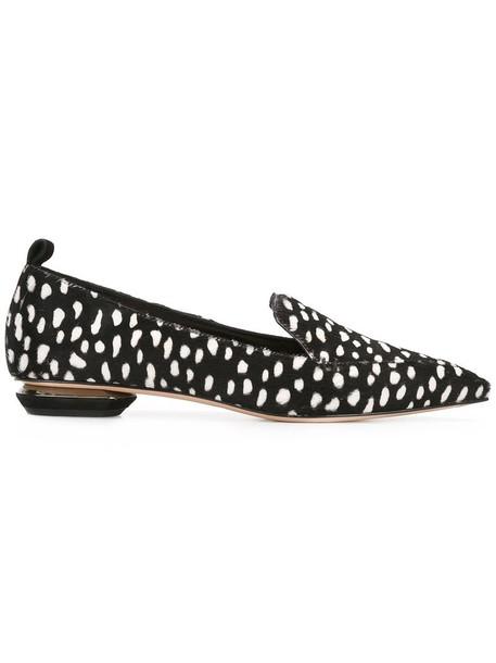 Nicholas Kirkwood hair women loafers leather black shoes