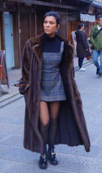 dress mini dress coat fall outfits kourtney kardashian kardashians top streetstyle