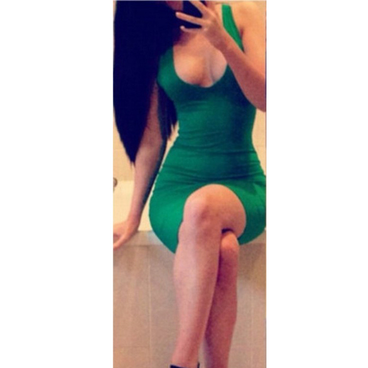 Sexy elegant green hot dress