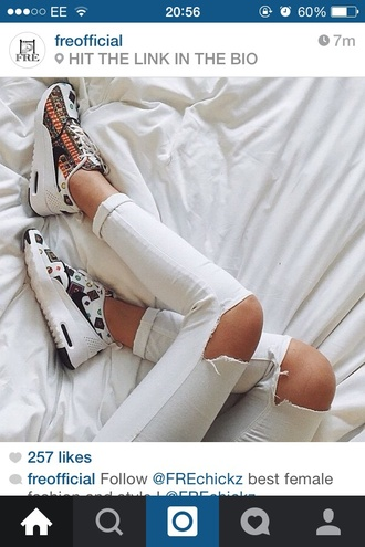 shoes sneakers white jeans