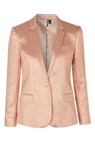 jacket metallic peach