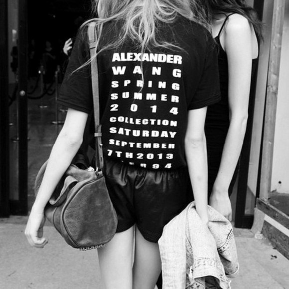 t shirt shirt alexander wang fashion show