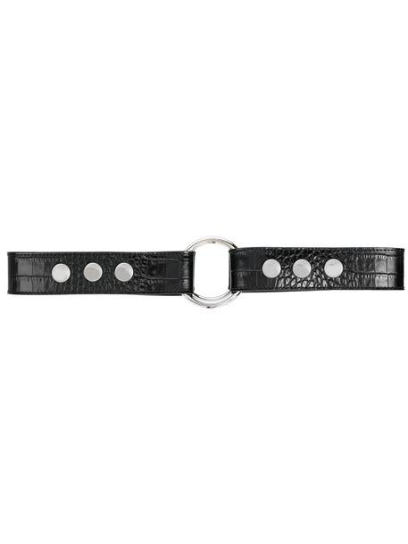 Alyx studded belt studded metal women belt leather black crocodile