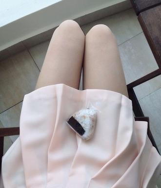 cute baby pink preppy kawaii japanese skirt