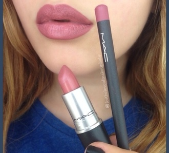 make-up classy wishlist mac lip liner mac lipstick romper mac cosmetics lipstick lip liner lips nail polish shade style beautiful m.a.c what colour is it? soar cute colorful like pink