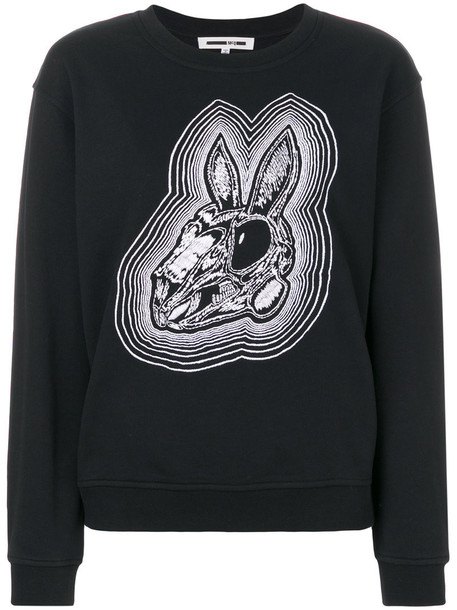 sweatshirt women cotton black sweater