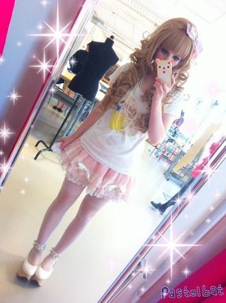 skirt kawaii fairy kei tutu pastel pink wig lolita wig hair accessory shoes