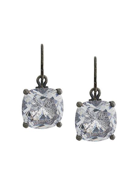 metal women earrings grey metallic jewels