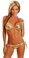 Sequin Gold Bikini by Daisy Beachwear 60, Gold Sequined Bikinis