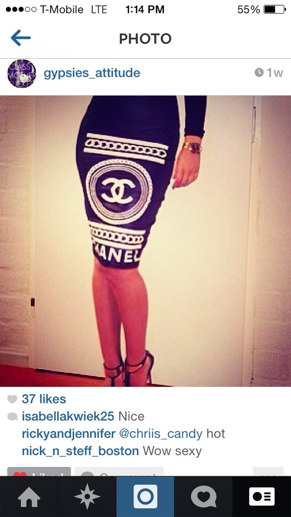 skirt black chanel