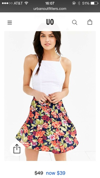 skirt floral urban outfitters floral skirt