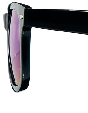 ASOS | ASOS – Wayfarer-Sonnenbrille mit grünen, verspiegelten Gläsern bei ASOS