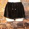 Black drawstring velvet gym style comfy shorts/15% off black velour shorts/ dolphin short/gym style shorts/velvet shorts/elastic waist short