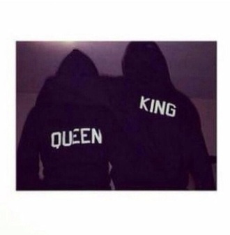 sweater sweatshirt couple queen king t-shirt