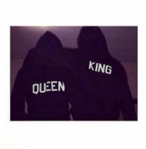 sweater sweatshirt couple queen king t-shirt jacket