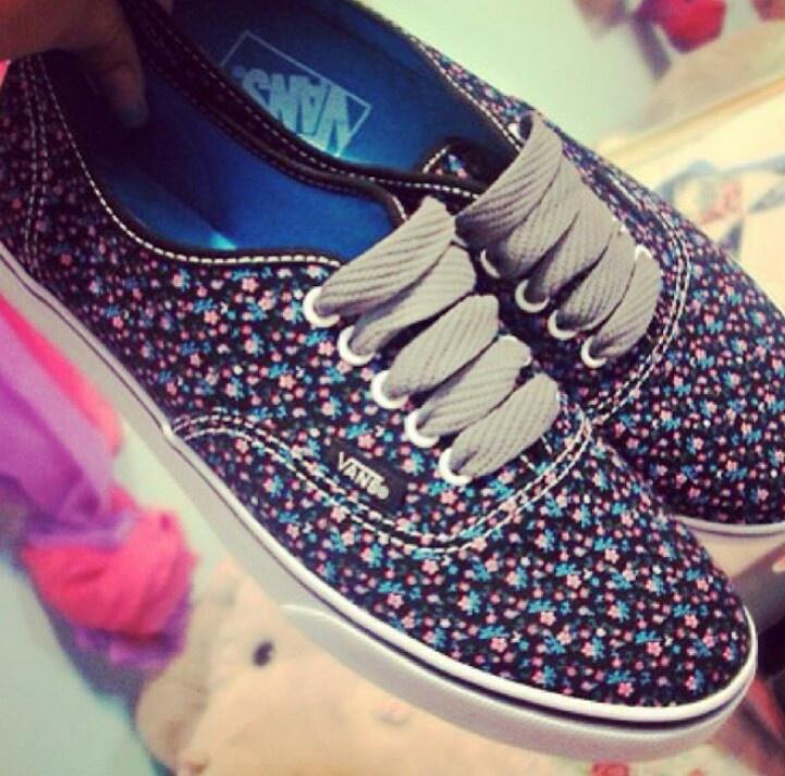 vans #flowers | shoes | Pinterest
