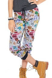 pants,emoji print,emoji white sweat pants,emoji pajamas