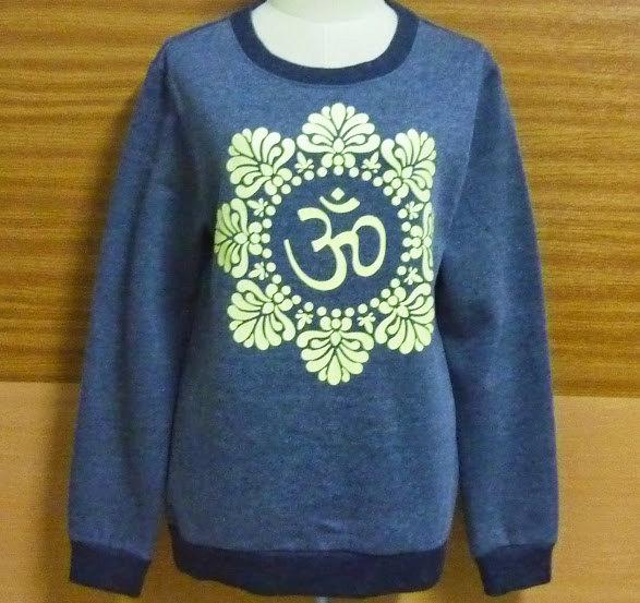 Shirt om hindi yoga peace shirt crew neck sweatshirt s m l xl xxl