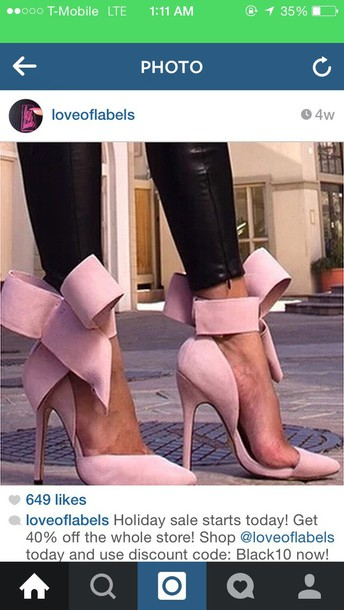 shoes bows heels