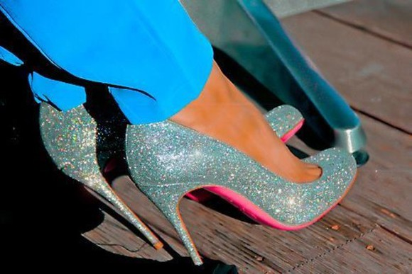 silver sparkling cute shoes high heels pink amazing sparkles