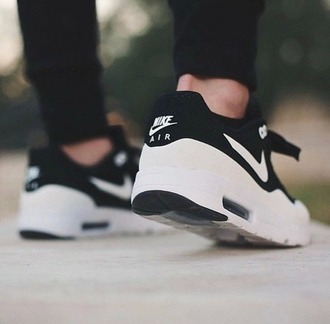 shoes nike black white grunge