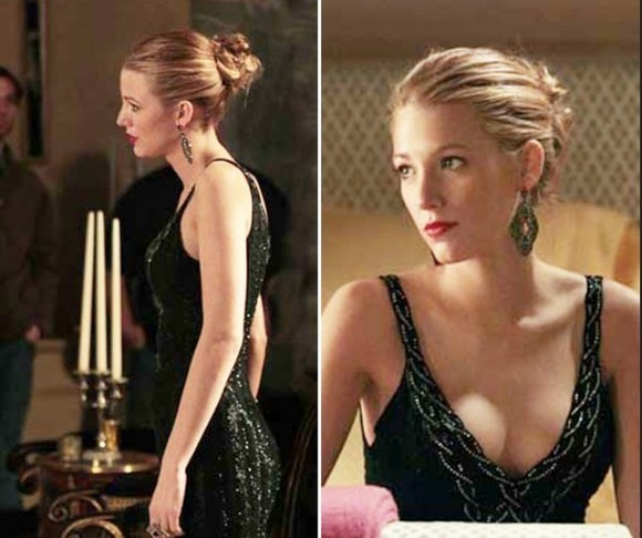 serena van der woodsen dress gossip girl formal black dress