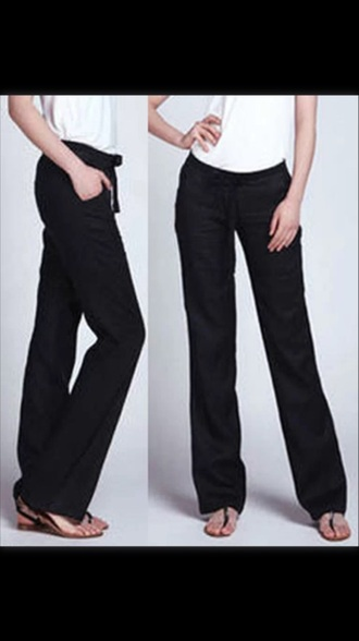 cotton black pants pants