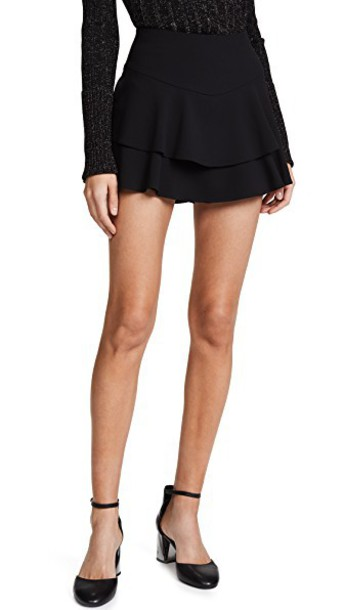 skorts ruffle black skirt
