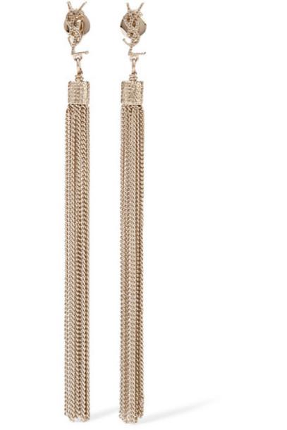 Saint Laurent tassel earrings gold jewels