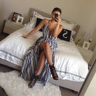 dress high-low dresses slit dress spaghetti straps dress