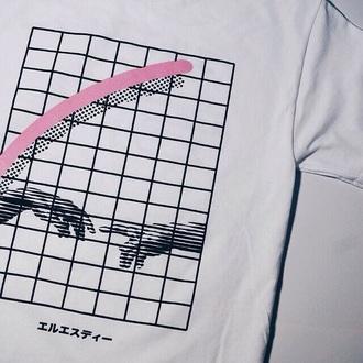 shirt pink white menswear women girl boy t-shirt