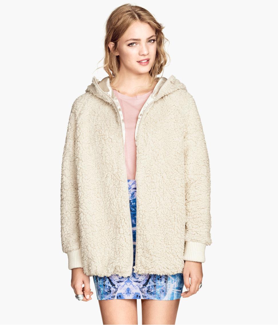 H&m pile jacket $39.95