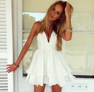 dress white dress white cute cute outfits cute dress short dress mini dress pinterest tumblr outfit tumblr outfit summer dress sexy dress instagram sexy party dresses