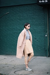 we wore what,blogger,coat,cropped pants,vans,winter outfits,camel coat,boyfriend coat,camel,winter coat,pants