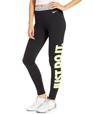 Nike Pro Hyperwarm Mezzo Active Leggings - Pants - Women - Macy's