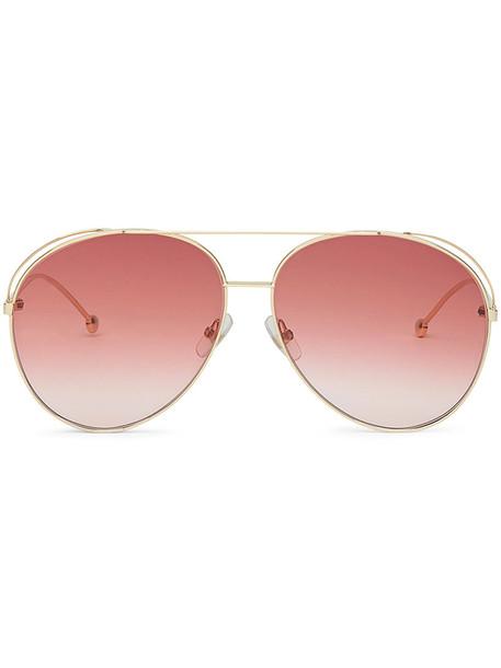 metal women run sunglasses purple pink
