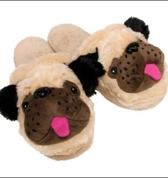 fluffy pajamas adorable teddy bear pug slippers