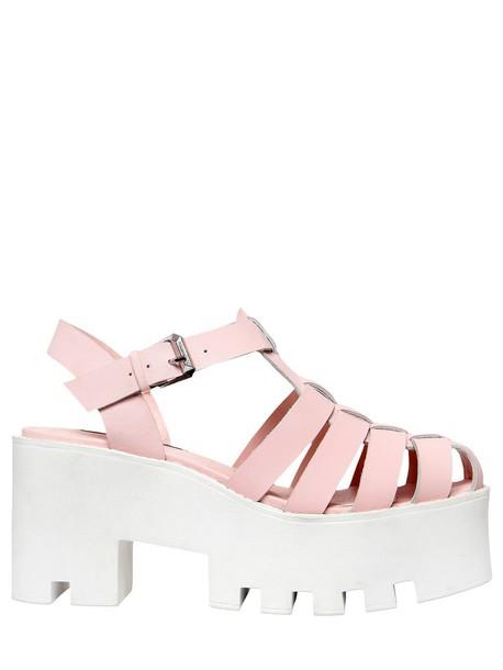9b61be4da6af Windsor Smith WINDSOR SMITH 80mm Fluffy Leather Platform Sandals in pink