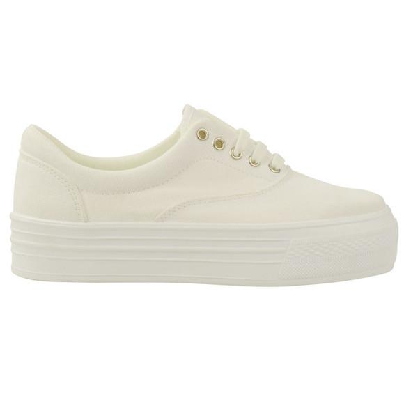 vans shoes white plateau