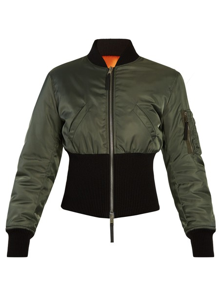 Alexander Mcqueen jacket bomber jacket green