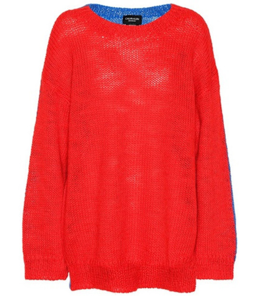 Calvin Klein 205W39NYC Alpaca and mohair sweater in red