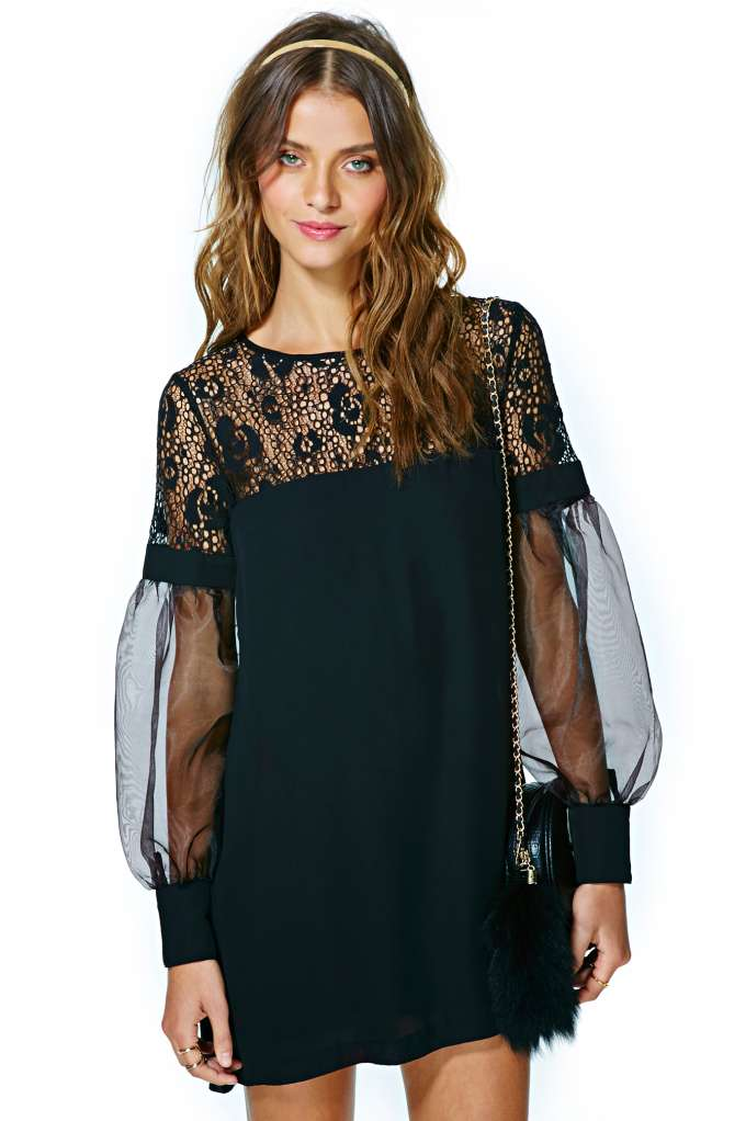 Nasty Gal Coquette Lace Dress in  What's New at Nasty Gal
