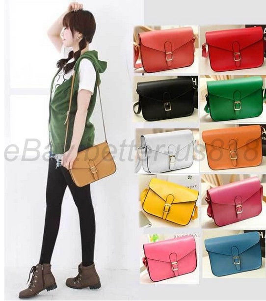 Satchel PU Leather Shoulder Tote Handbag Clutch Messenger ...