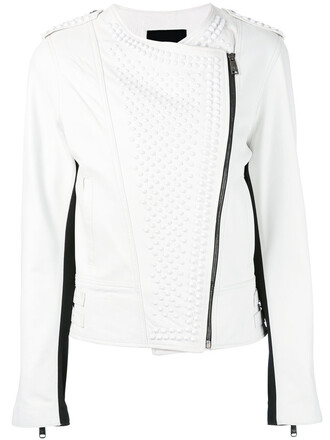 jacket biker jacket women white