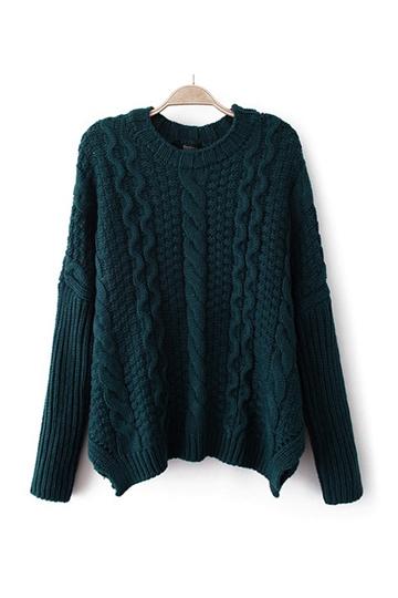 Claasical Twist Flank Splits Sweater [FKBJ10313]- US$43.99 - PersunMall.com
