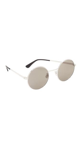 Saint Laurent Sl 136 Zero Base Mineral Lense Round Sunglasses - Silver/Grey