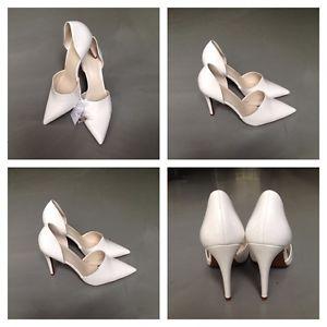 Zara white high heel (10cm) shoes size 39, 6202/201/001