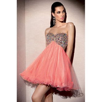 cocktail party pearl pink dress