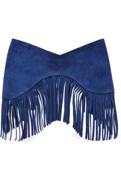 Jacquemus - La Ceinture Souk Fringed Suede Waist Belt - Bright blue