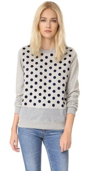sweatshirt navy grey heather grey sweater